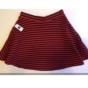Gap Red and Blue Circle Skater Skirt